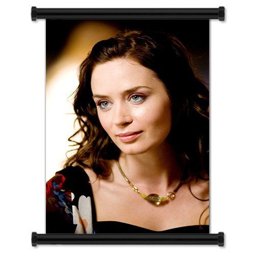 (Emily Blunt Sexy Hot English Actress Fabric Wall Scroll Poster (16