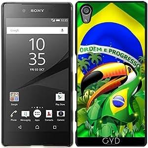 Funda para Sony Xperia Z5 - Tucán Toco Con La Bandera Brasil by BluedarkArt