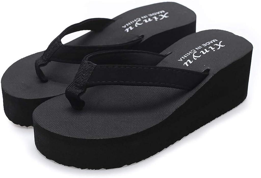 OSYARD-Chaussure Sandales Compensee Femme de Ville /Ét/é /à Talons Compens/és Tong Confortable Sangle de Boucle Chaussure Plage Vacances Antid/érapant