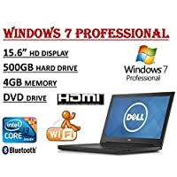 2017 Edition ~ Dell Inspiron 15 3000 i3558 Laptop ~ Intel Core i3-5005U Processor ~ 4GB RAM ~ 500GB HDD ~ DVDRW ~ WiFi + Bluetooth ~ Windows 7 Professional.