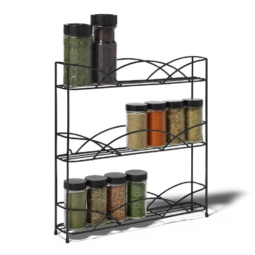 Spectrum Countertop 3-Tier Spice Rack, Black