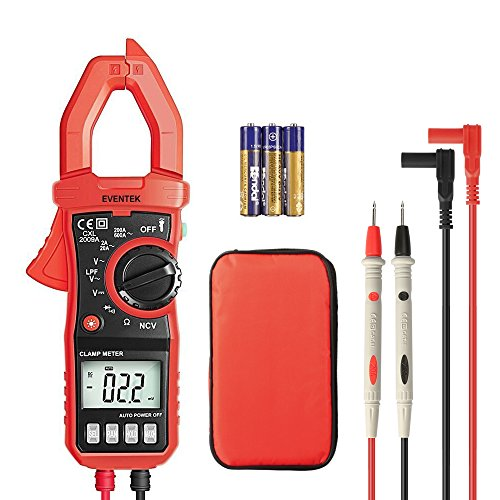 Amp Meters (Digital Clamp Meter, 4000 Counts Eventek ET820 Auto-ranging Multimeter with NCV For Measuring Non-contact AC / DC 600V Volt / 600A Amp / Frequency / Resistance / Capacitance / Continuity / Diodes)