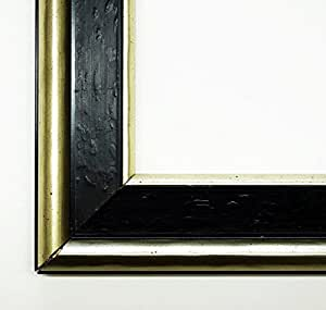 Fotos Canaletto Ébano negro marrón 4,5–con cristal normal–28x 35cm–Real–Marco de madera