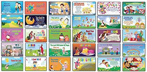- Inspirational Bible Verses Flash Cards NIV Version NIV Flashcards (30 Cards x 2 Set) - Effective Illustrations for Kids