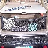 Juntu Black Mesh Vehicle Organizer Cargo net/Heavy Duty net. Grocery Lover's Favorite/Tool Free Installation. for Car Vans SUV for Mercedes-Benz GLC