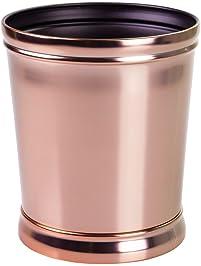 Lovely InterDesign Sutton Wastebasket Trash Can For Bathroom, Bedroom Or Office  Waste, Rose Gold