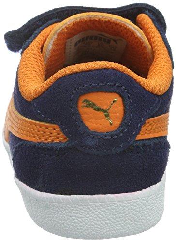Niños vibrant Icra Unisex Inf Sd Orange Azul Zapatillas Puma Trainer peacoat V Para Zq48qw