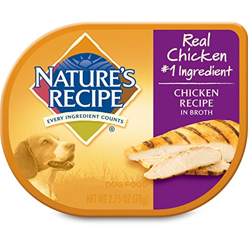 Nature s Recipe Wet Dog Food, Chicken in Broth Recipe, 2.75 Ounce Cup Pack of 12