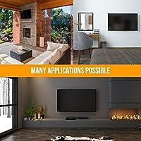 NANOOK soporte de pared para TV para televisores de 40 a 65 pulgadas | Giratorio | Soporte de pared para televisores LCD, LED, QLED y OLED | Compatibilidad universal | VESA 100x100