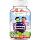 Sambucus Elderberry Gummies for Kids - Kids Vitamin C Immune System Booster - Tasty Triple Action Gummy Bears with Echinacea and Propolis - Mom Made, Toddler Approved