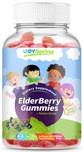 Sambucus Elderberry Gummies for Kids – Vitamin C Immune System Booster – Tasty Triple Action Gummy Bears with Echinacea and Propolis – Mom Made, Toddler Approved For Sale