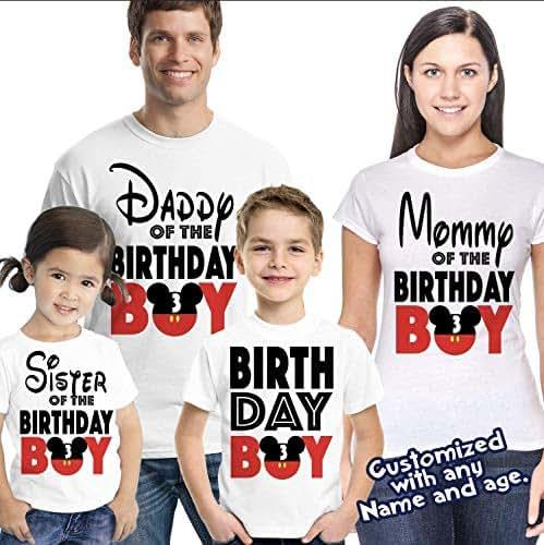 febb79e2f Amazon.com: Matching Disney Family Birthday Boy Tshirts - Mickey ...