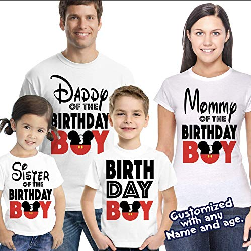 ebd7644d9d06c Matching Disney Family Birthday Boy Tshirts - Mickey Minnie Mouse Birthday  Girl - Disney Inspired - Matching Birthday Shirts