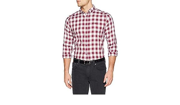 El Ganso Big Vichy Vintage Camisa Casual para Hombre: Amazon ...