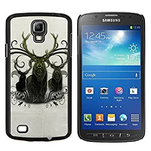 "Planetar® ( Ciervo Antlers Majestic Animal del Norte"" ) Samsung i9295 Galaxy S4 Active / i537 (NOT S4) Fundas Cover Cubre Hard Case Cover"