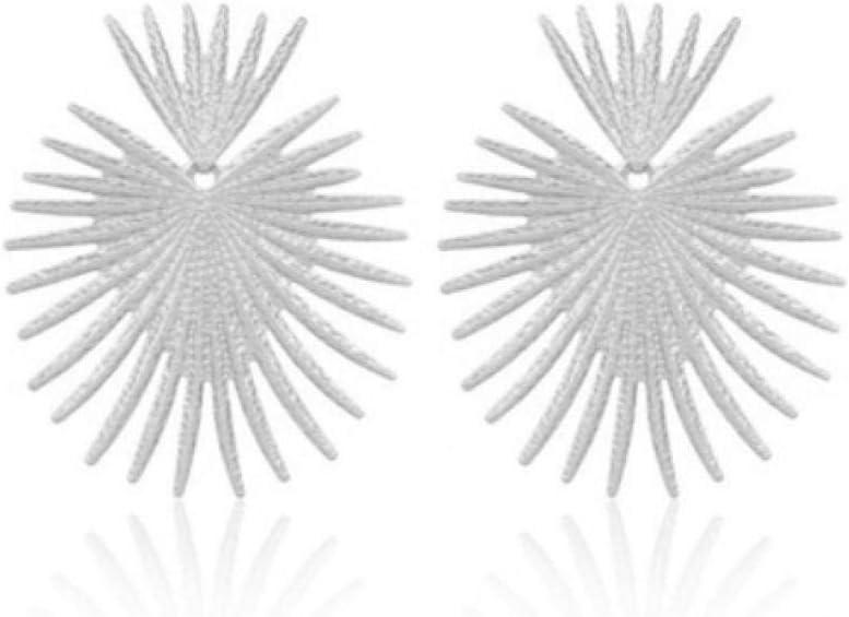 Empty Pendiente de Gota exagerado geométrico Irregular para Mujer Pendientes de Metal Pintados con Aerosol Joyería de Fiesta de Boda