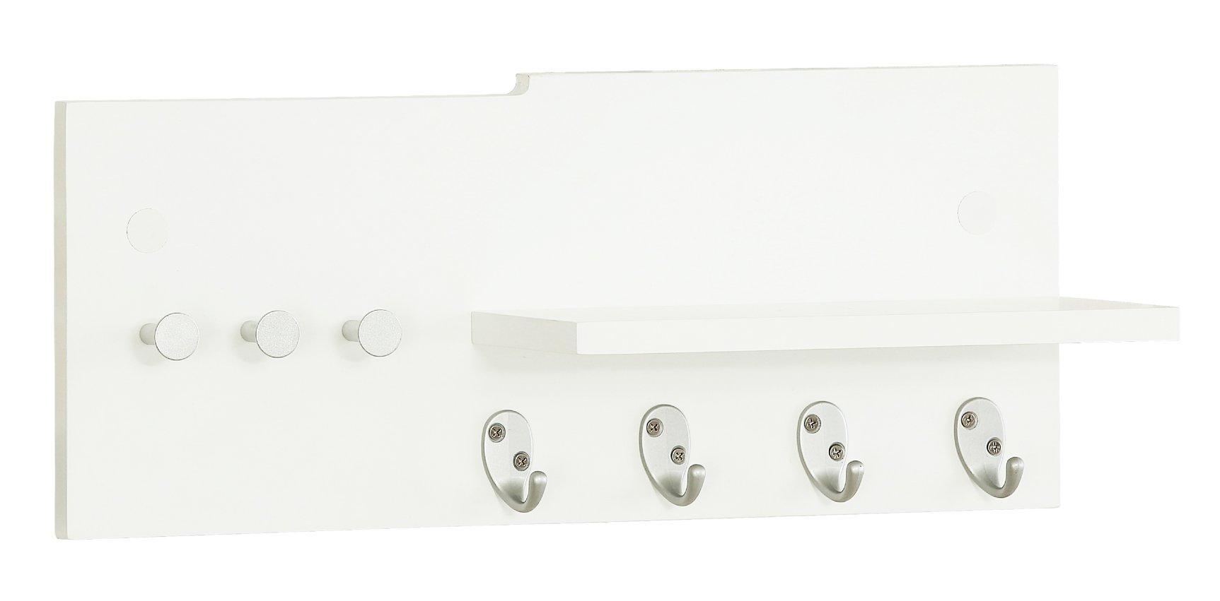 Orolay Wall Coat Hat Rack Hangers with Hooks Storage Shelf (White)