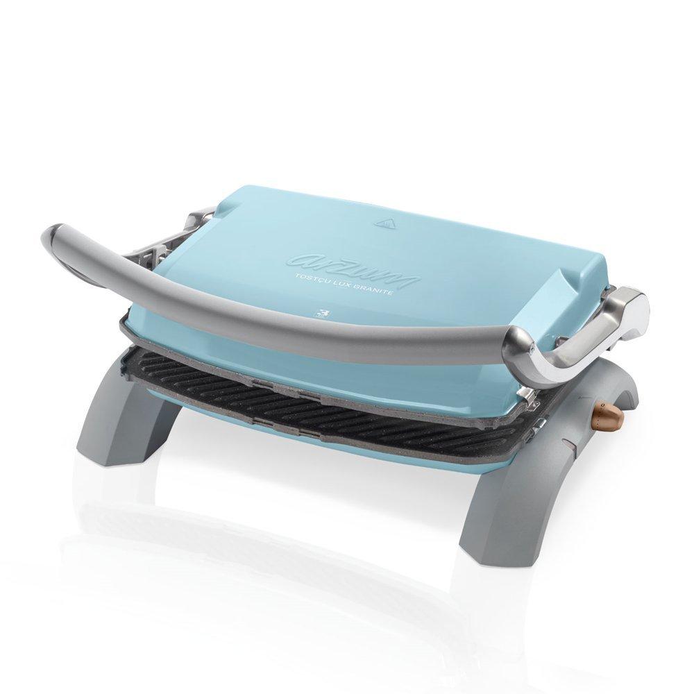 Arzum ar292b granito Grill and Sandwich Maker, alluminio, blu, 28 x 28 x 28 cm 28x 28x 28cm