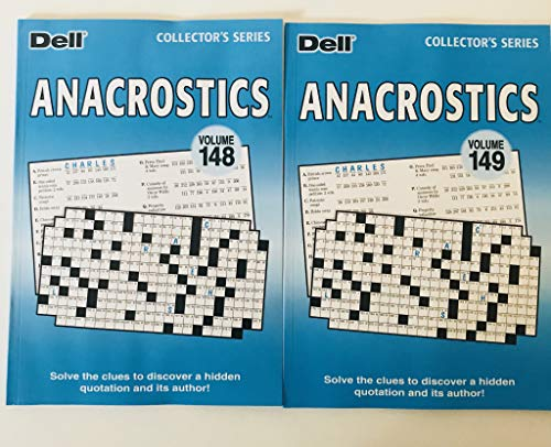 Volumes 148 and 149 of Anacrostics from the Dell Collectors Series
