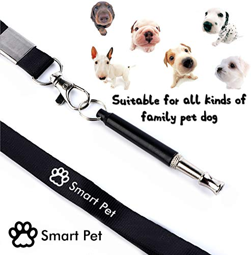SmartPet Dog Whistle | Professional Dog Whistle To Stop Barking | Adjustable Pitch Ultrasonic Training Tool | Silent Bark Control for Dogs | Audible To Human | Premium Lanyard and Training Instruction