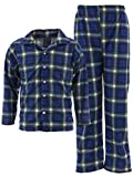 MacHenry Originals Big Boys' Blue Plaid Coat-Style Pajamas 8-10