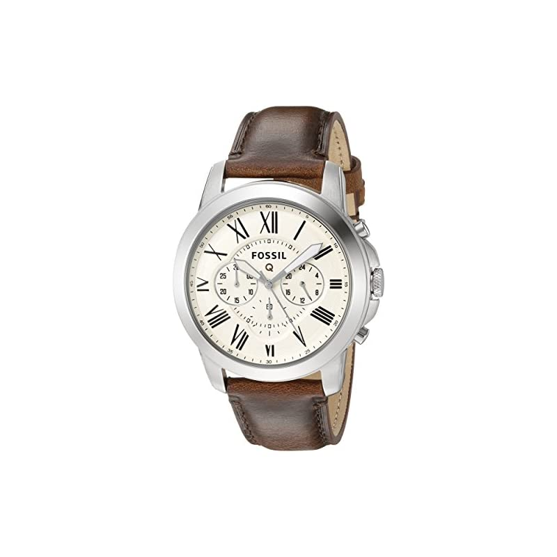 Fossil Q Grant Gen 1 Hybrid Brown Leathe