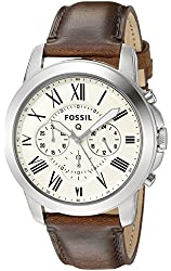 Fossil Q Grant Brown Leather Hybrid Smartwatch
