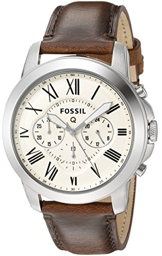- Fossil Q Grant Gen 1 Hybrid Brown Leather Smartwatch