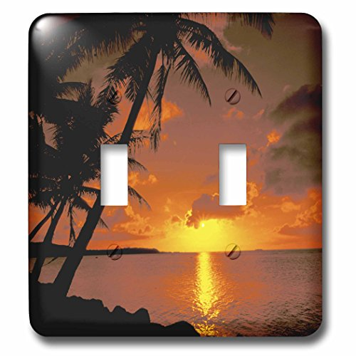 (3dRose lsp_75351_2 Ocean View at Sunset, AustraliaAU01 BBA0090 Bill Bachmann Double Toggle Switch)