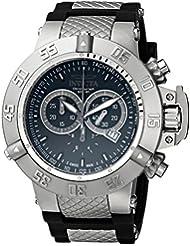 Invicta Mens 1380 Subaqua Noma III Chronograph Black Dial Black Silicone Watch
