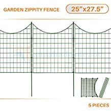 "Sunshades Depot 5pcs Green Zippity Fence Garden Picket Metal Lattice Metal Panel 25"" Height x 27.5"" Width"
