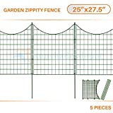 Sunshades Depot 5pcs Green Zippity Fence Garden Picket Metal Lattice Metal Panel 25
