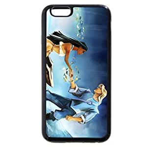 """Customized Black Frosted Soft Rubber(TPU) Disney Princess Pocahontas iPhone 4.7 Case, Only fit iPhone 6 4.7"""""""