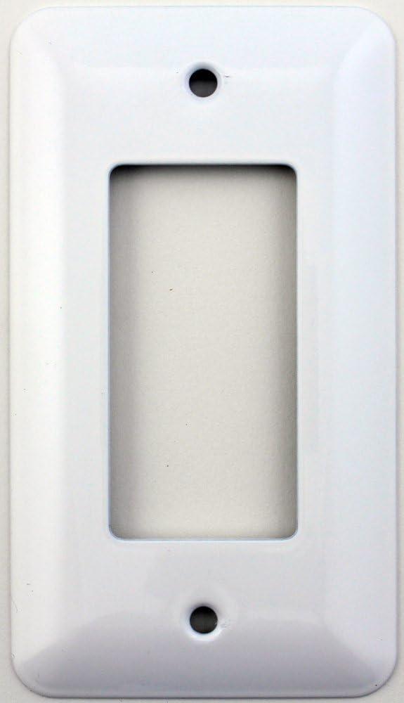 Mulberry Princess Style White Single Gang GFI/Rocker Opening Switch Plate
