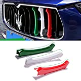 Grille Trim 3pcs Front Grille Decorative Garnish Trim for Maserati Ghibli 2014-2016