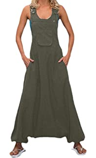 Gocgt Womens Summer Floral Print Spaghetti Jumpsuits Long Wide Leg Rompers