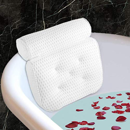Fitheaven Bath Pillow for Bathtub. Tub Pillow for Women & Men,with 3D Air Mesh Breathable,Helps Support Head, Neck, and Back