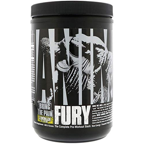 Animal Fury Pre-Workout Powder for Energy and Focus - 5g BCAA, 6g Citrulline Malate, 2g Beta Alanine, 1g L-Tyrosine, 350mg Caffeine - Complete PWO Stack, Lemonade - 30 Servings