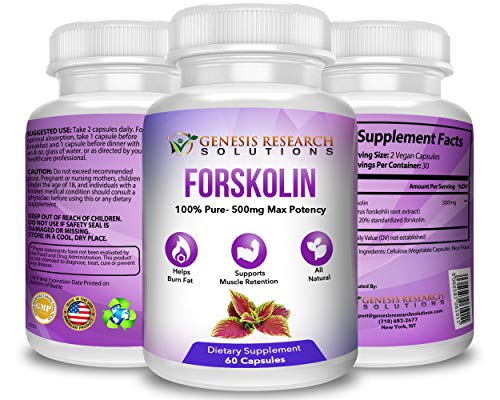 Pure Forskolin Dietary Supplement, Appetite Suppressant for Weight Loss & Muscle Retention. Plus Metabolism & Energy Booster - 100% Natural Supplement Extr by Genesis Research Solutions (Image #4)