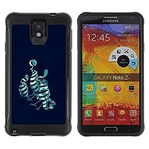 Be-Star único patrón Impacto Shock - Absorción y Anti-Arañazos Funda Carcasa Case Bumper Para SAMSUNG Galaxy Note 3 III / N9000 / N9005 ( Birds Pop Art )