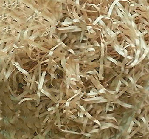 Custom & Unique {12 Ounces} of Straight Cut Shredded Gift Basket Filler Paper Made From Tissue w/ Simple Natural Tan Straw Tone Decorative Grass Nest Holiday Scatter Design (Light Brown)
