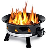 Outland Firebowl 883 Mega Outdoor Propane Gas Fire Pit with Soft Cover, 24-Inch Diameter 58,000 BTU