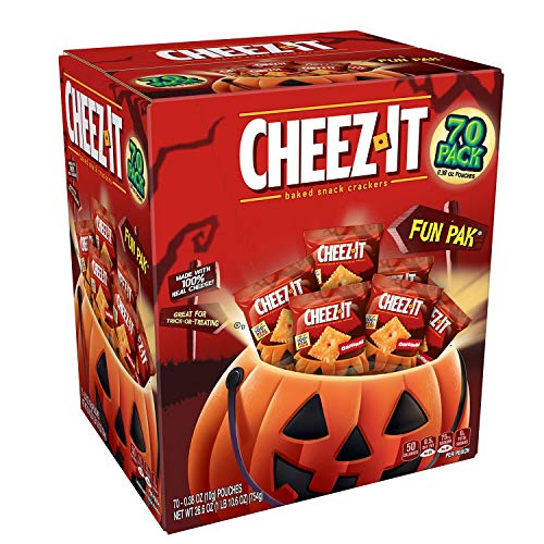 Cheez-It Baked Snack Cheese Crackers,0.38oz 70 Count (Halloween Fun -