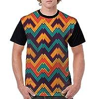 Teen t-Shirt,Colorful Zig Zag Pattern Fashion Personality Customization