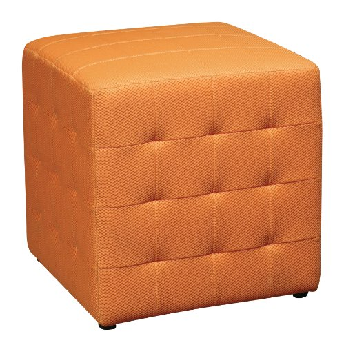 office-star-detour-15-inch-mesh-fabric-cube-ottoman-orange