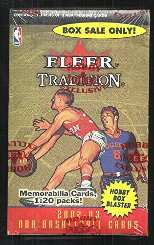 2002-03 FLEER BASKETBALL FACTORY SEALED 20 CT HOBBY BLASTER BOX YAO MING ROOKIE