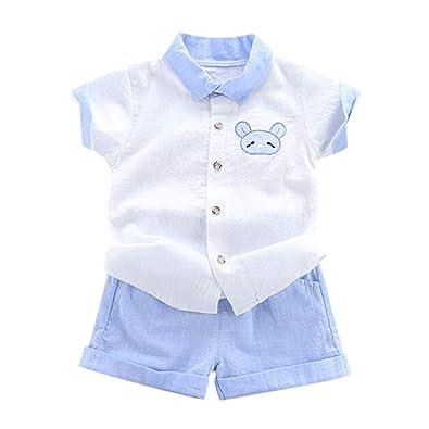 Counjunto de Ropa Bebé Niño Verano BBestseller Casual Camiseta niño Manga Corta y Pantalones Cortos Traje de Dos Piezas Ropa Infantil