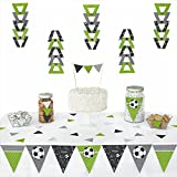 GOAAAL! - Soccer - Triangle Baby Shower or Birthday Party Decoration Kit - 72 Pieces