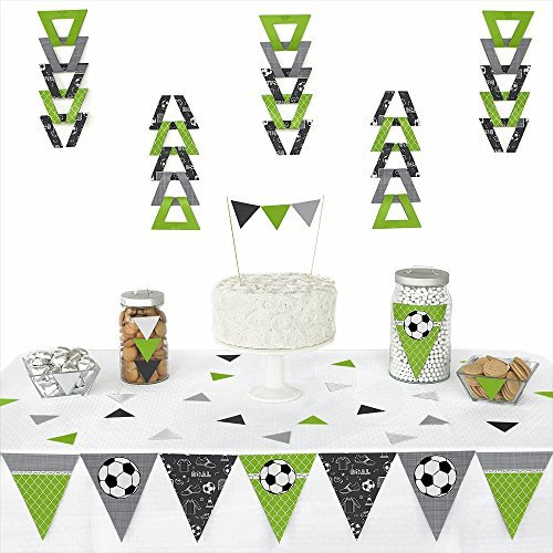GOAAAL! - Soccer - Triangle Baby Shower or Birthday Party Decoration Kit - 72 Pieces by Big Dot of Happiness