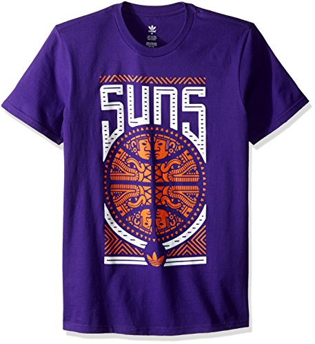 fan products of NBA Phoenix Suns Adult Men Temple Ball Originals Go-To Tee, Large, Purple